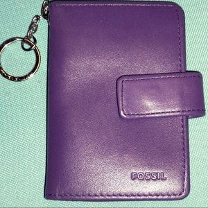NWT Leather Purple Fossil Wallet!